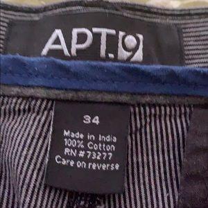 Men's Apt. 9 Men's Charcoal Striped Shorts Size 34